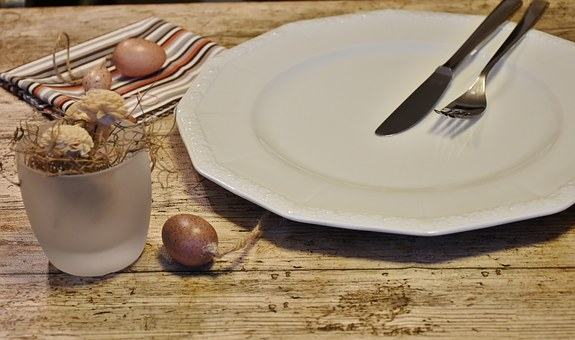Cover, Plate, Empty, Knife, Fork