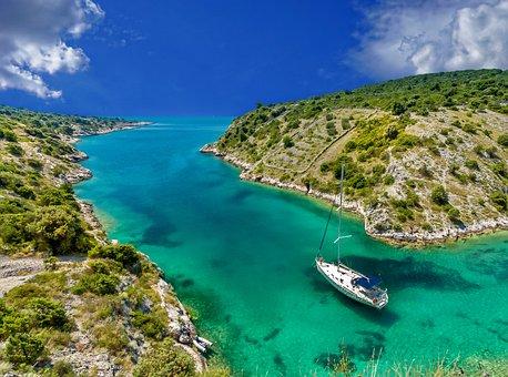Scenery, Tropical, Boat, Sailing Boat