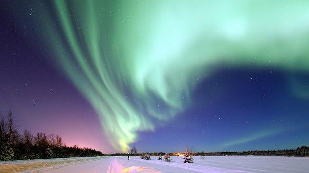 オーロラ, アラスカ, スペース, 魔法の夜, 南天オーロラ, 極ライト