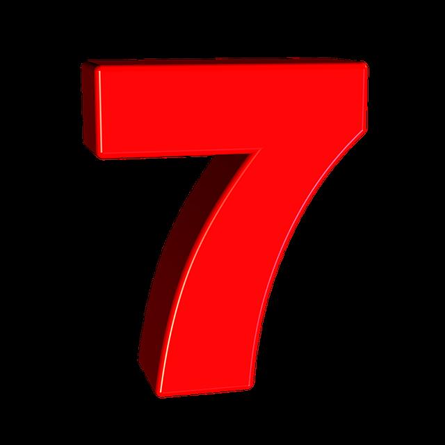 Seven Number 7  U00b7 Free Image On Pixabay