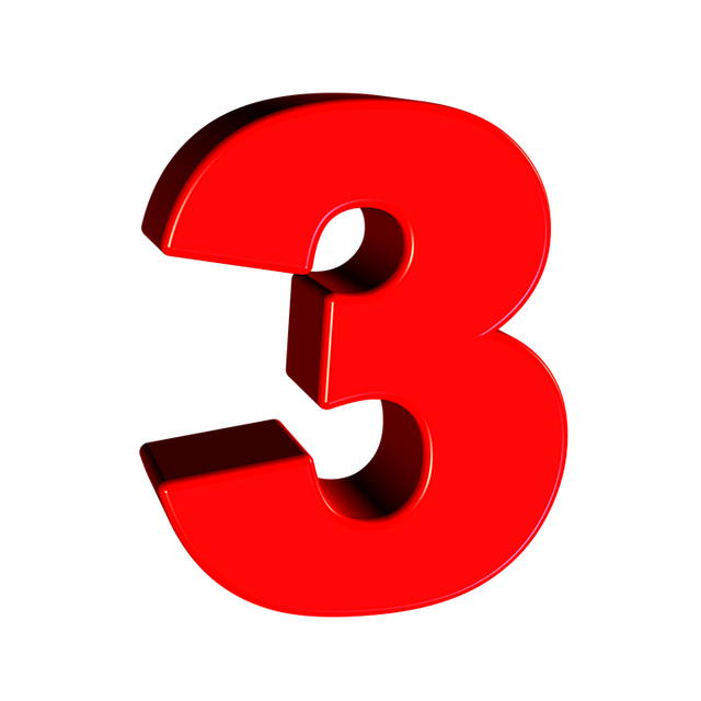 Free Illustration  Three  Number  3  Digit  Font