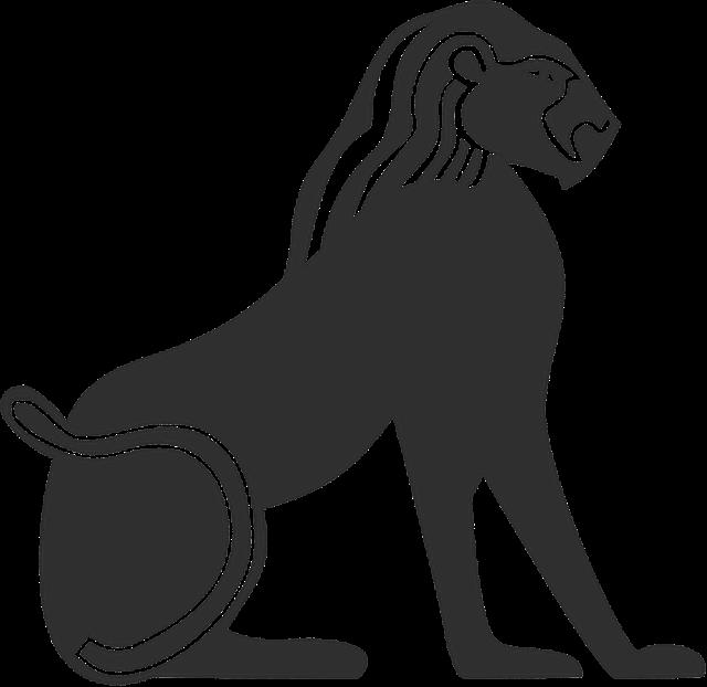 free illustration lion egyptian ancient egypt free