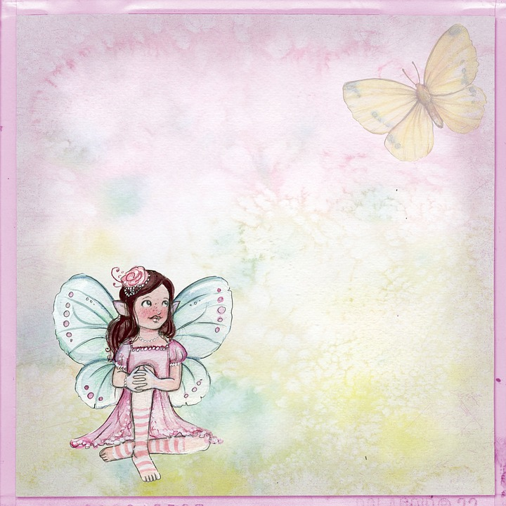 Pink vintage butterfly background - photo#35