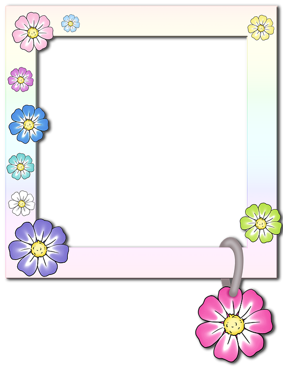 Free illustration photo frame photo album flower for Frame per foto