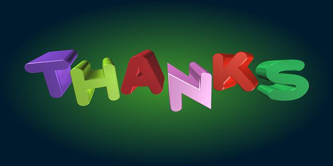 Thanks, Thank You, Gratitude, Thankful