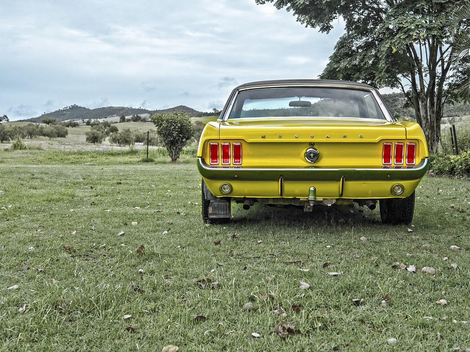 Mustang, Antigo, Carro, Músculo, Velocidade, Vintage