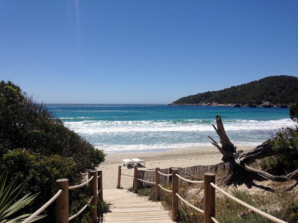 Playa, Verano, Ibiza, España, Mar, Vacaciones