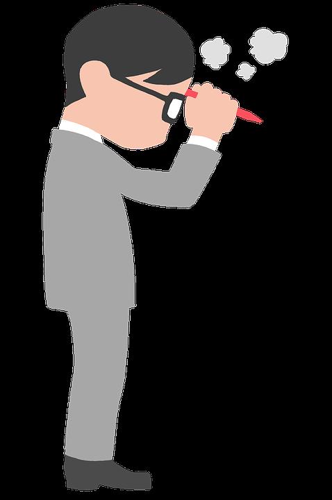 考える, サラリーマン, ビジネスマン, 悩む, ビジネス, アイディア, 会議, 企画, ひらめき, 日本人