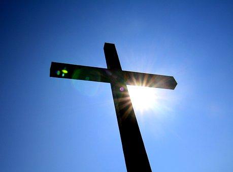 Croix, Bleu, Sun, Ciel, La Lumière