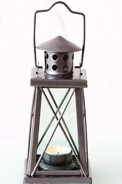 Free Photo Lantern Bow Type Handle Candle Free Image