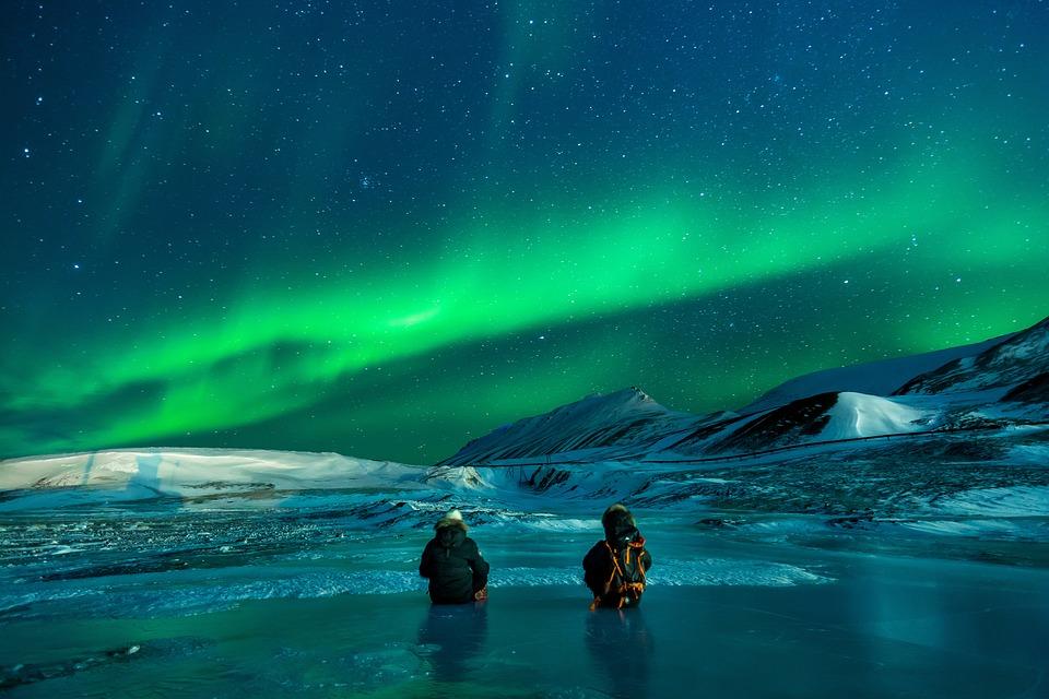 Auroră, Aurora Boreala, Zăpadă, Lumini Nothern