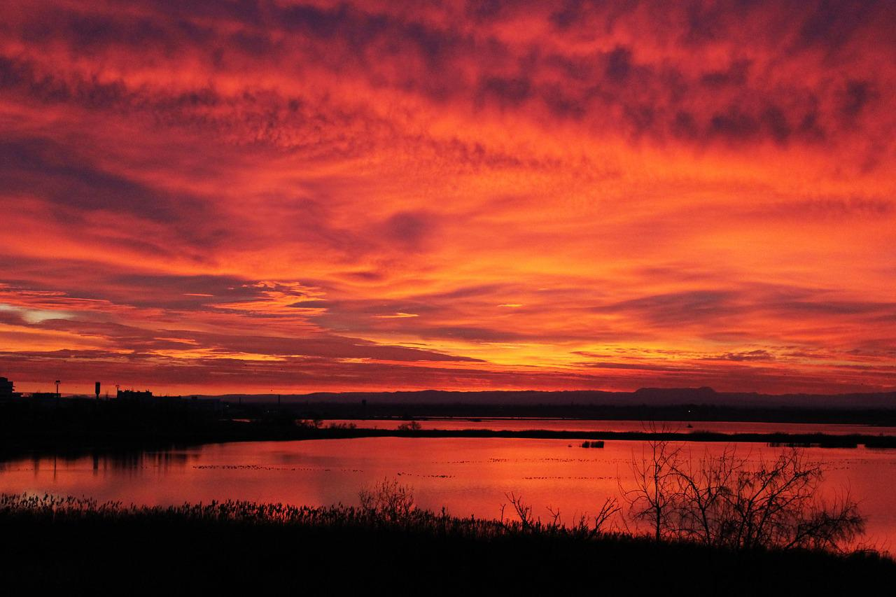 картинки красный закат можете
