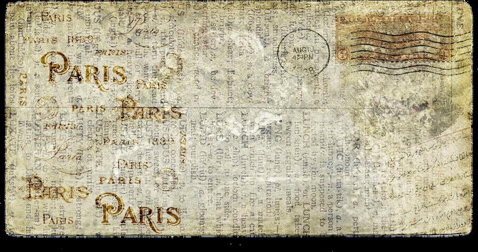 Postcard Letters Old Vintage Mail Paper Paris