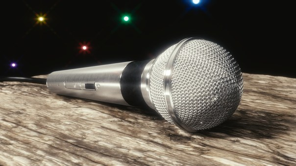 Microphone 3D Art Blender Party Media Comm