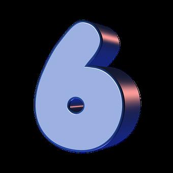 Число, Шесть, 6, Цифра