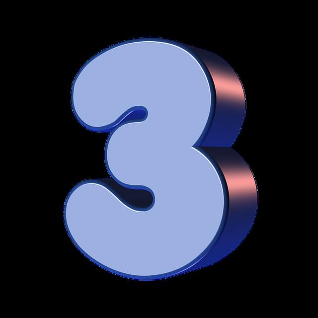 Number Three 3  U00b7 Free Image On Pixabay