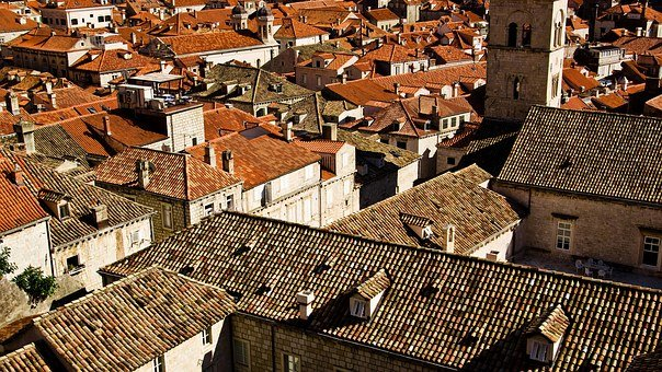Roofs, Orange Roofs, Brown Roofs