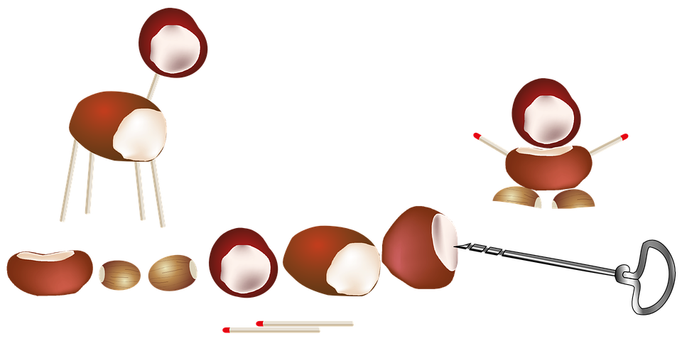 Kastanien kinder basteln kostenlose vektorgrafik auf pixabay for Kastanien basteln kinder