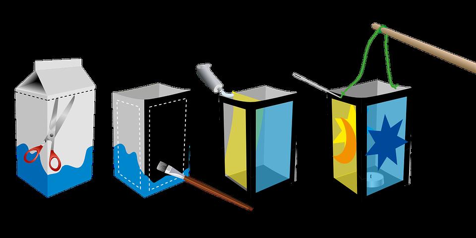 Häufig Image vectorielle gratuite: Lanterne, Bricoler, Carton De Lait  AG75