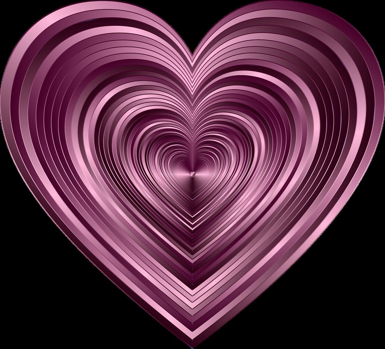 Февраля своими, картинки фиолетовое сердечко