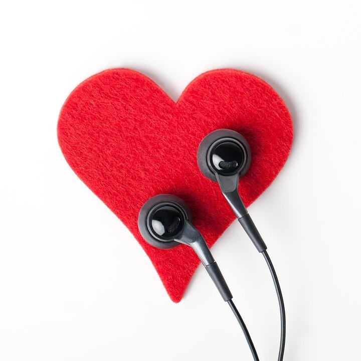 Corazón, Auriculares, Objeto, Escuchar