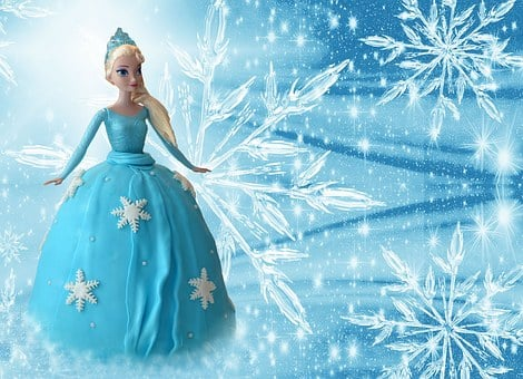 Frozen, Elsa, Ice Queen, Doll, Cake