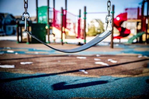 スイング, 遊び場, 遊んでいる子供たち, 公園, 子, 再生, 幸せ