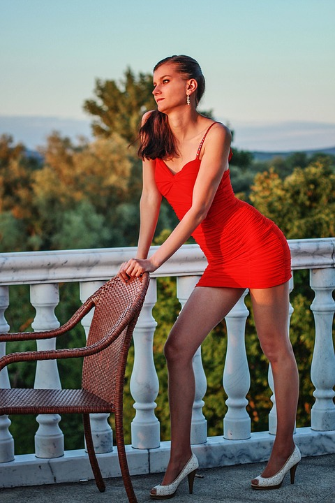 Free photo: Fashion, Young Woman, Red Dress - Free Image on ...