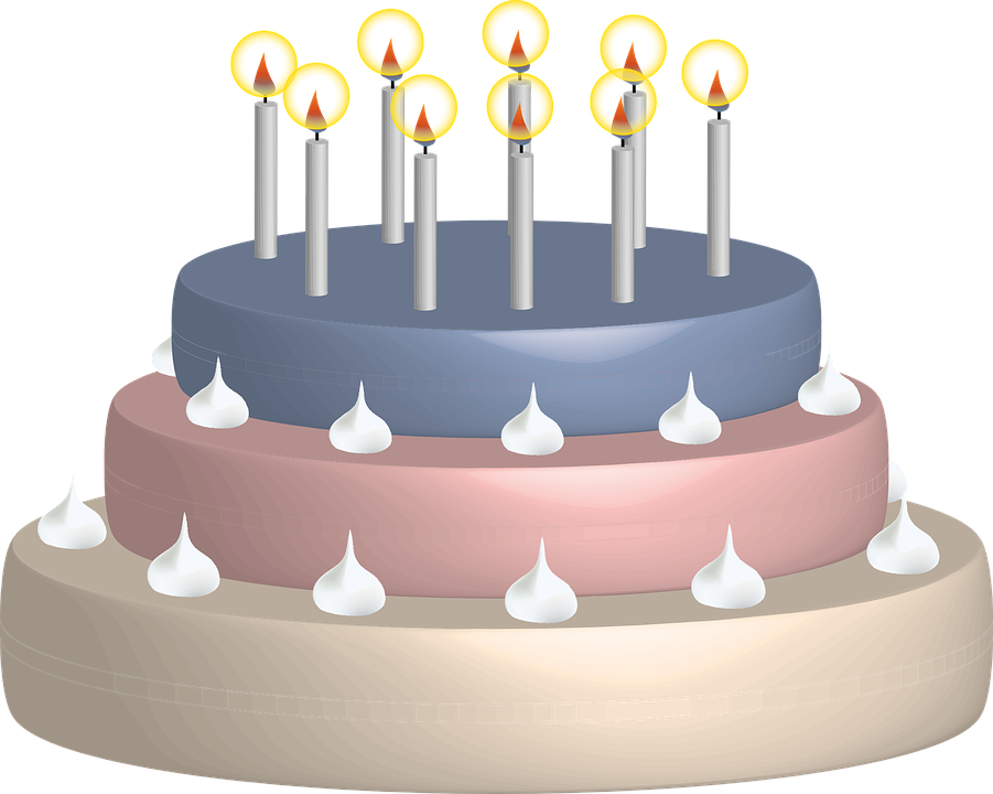 Magnificent Birthday Cake Candles Free Vector Graphic On Pixabay Funny Birthday Cards Online Alyptdamsfinfo