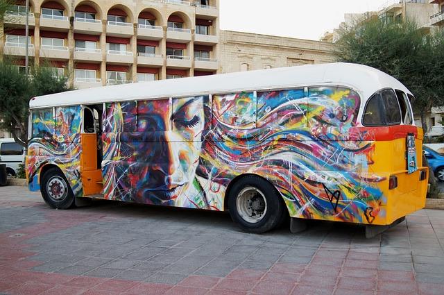 Free photo: Bus, Graffiti, Malta, Street Art - Free Image ...