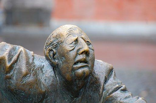 顔, 彫刻, アーヘン エリーゼの泉, お願い, 苦しみ