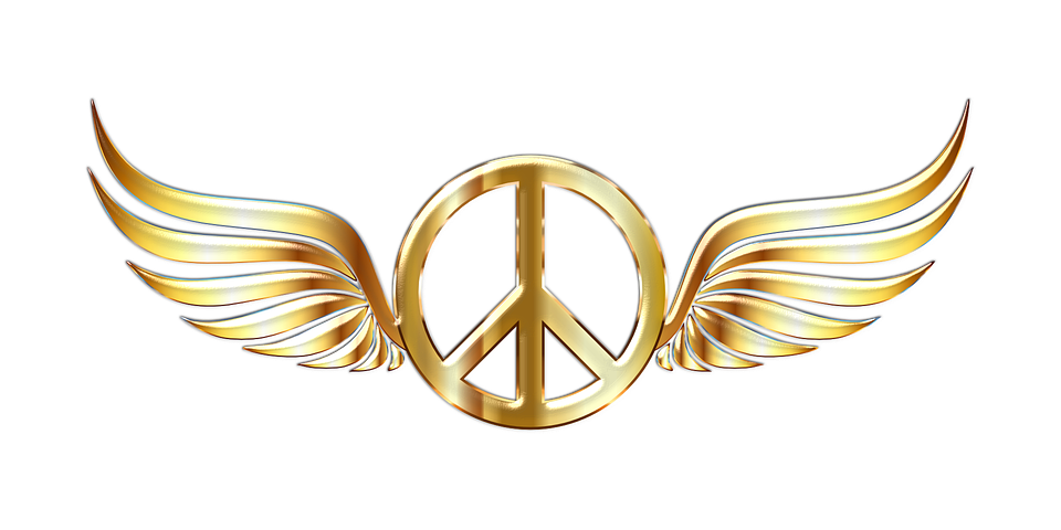 Free Vector Graphic Peace Sign Symbol Wings Free Image On Pixabay 1191046
