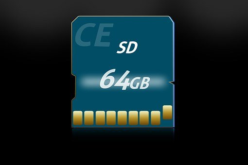 Sd Card, Memory, Map, Blue, Multimedia
