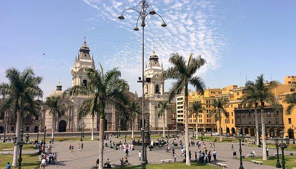 Plaza Mayor, Plaza de Armas, Catedral de Lima, Perú
