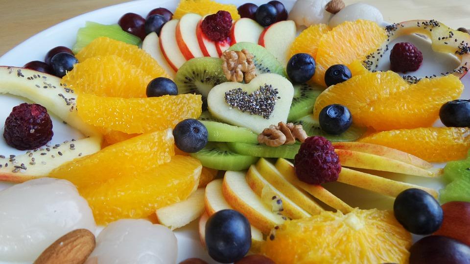 Frutta, Piatto Di Frutta, Piastra, Vitamine, Sano