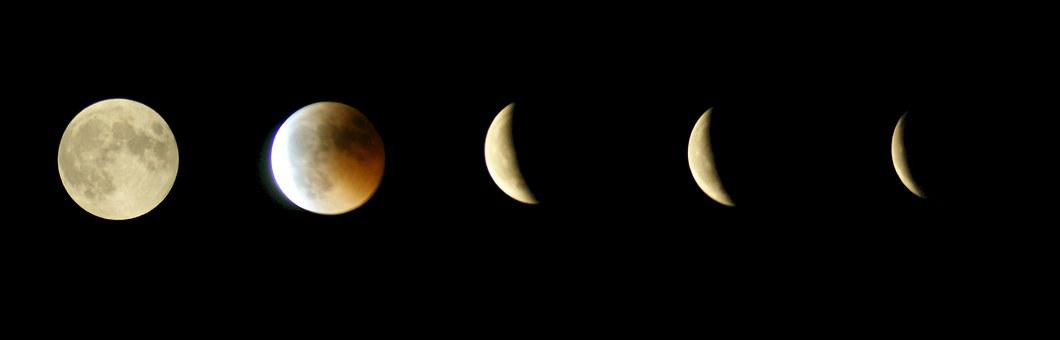 Lunar Eclipse, Moon, Full Moon, Night