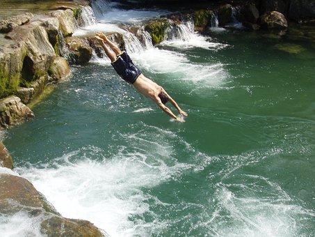 Acqua, Cascata, Salto, Tuffo, Natura