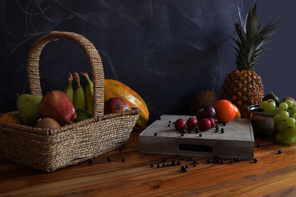 Obst, Trauben, Ananas, Papaya, Kolumbien, Green, Ernährung, Gesundheit