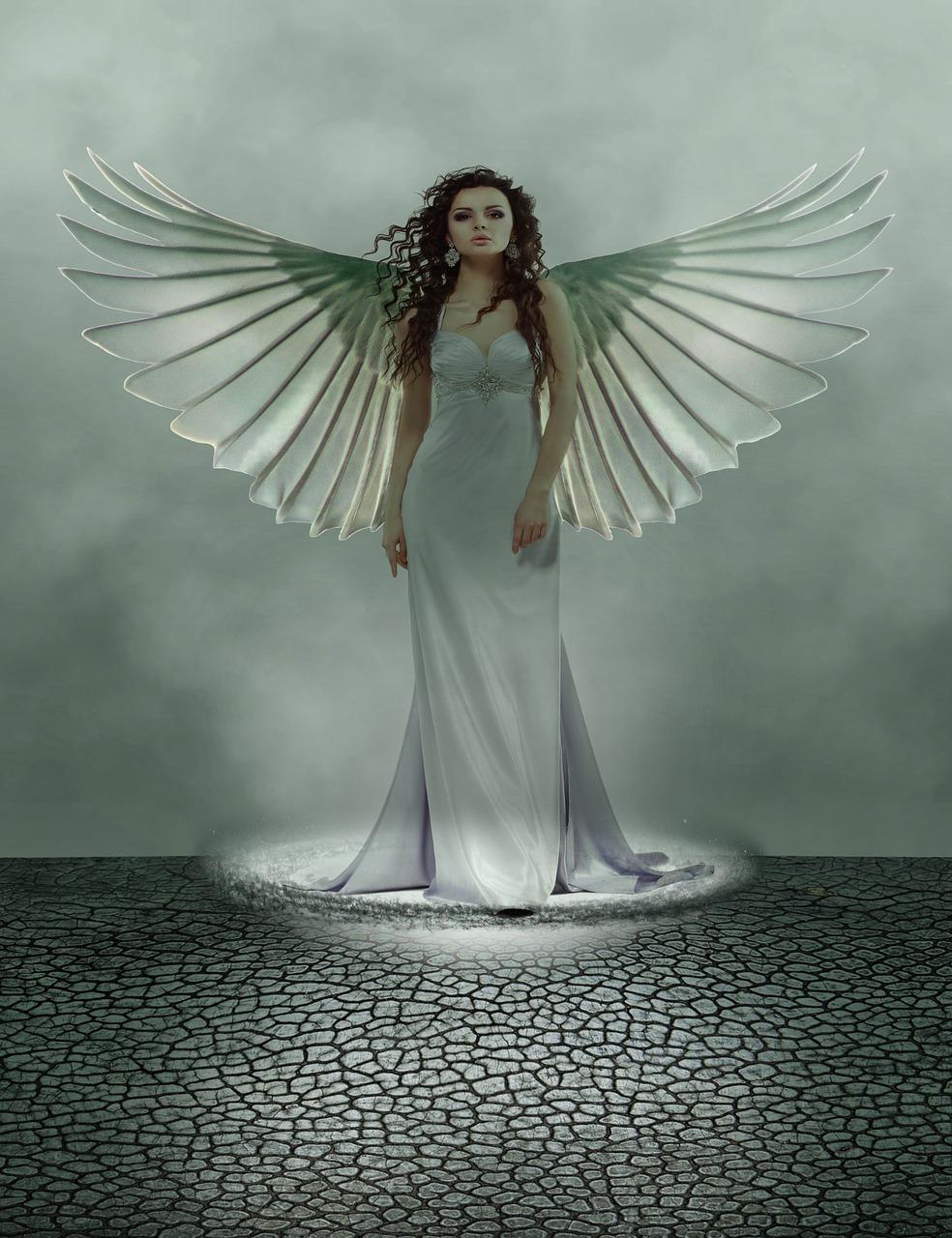 креативные ангелы картинки черном