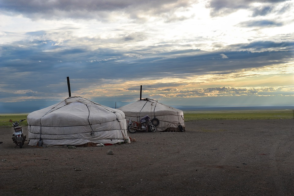 Mongolia, Yurts, Steppe, Nomads, Altai