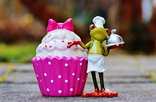 Baker, Cooking, Coffee, Cupcake, Frog