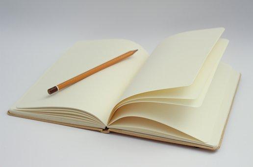 Ordinateur Portable Écrit Page Blanche Déb