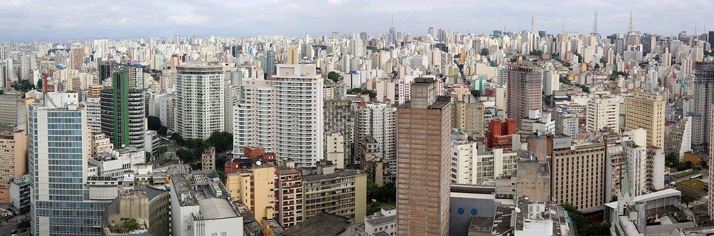 São Paulo, Edifícios, Panorâmica, Aérea