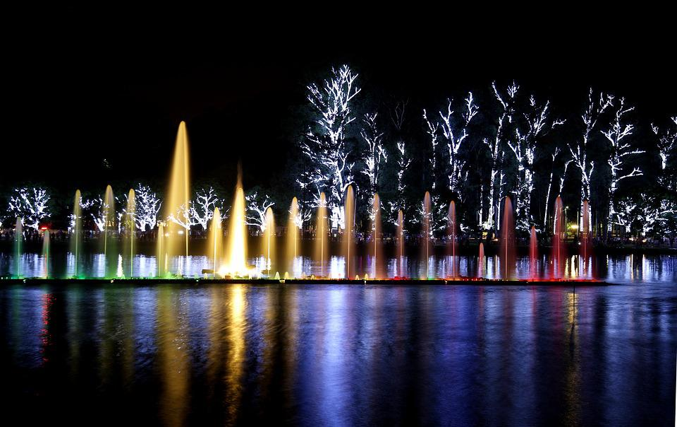 Parque Ibirapuera, Luzes, Noite, Show Das Águas, Cor