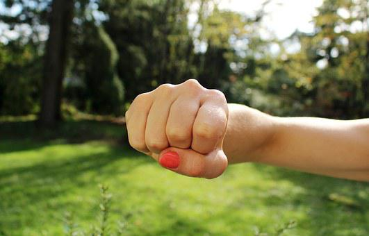 Fist Bump, Anger, Hand, Aggression