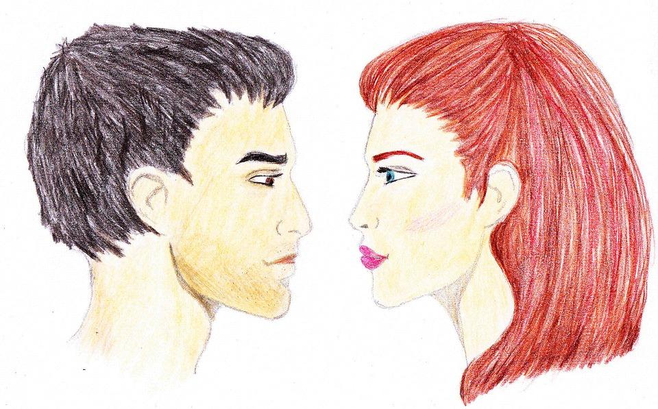 illustration gratuite couple homme femme dessin yeux image gratuite sur pixabay 1196029. Black Bedroom Furniture Sets. Home Design Ideas