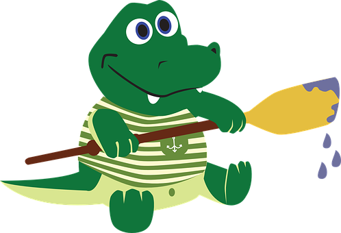 Krokodil, Alligator, Der Matrose, Paddel