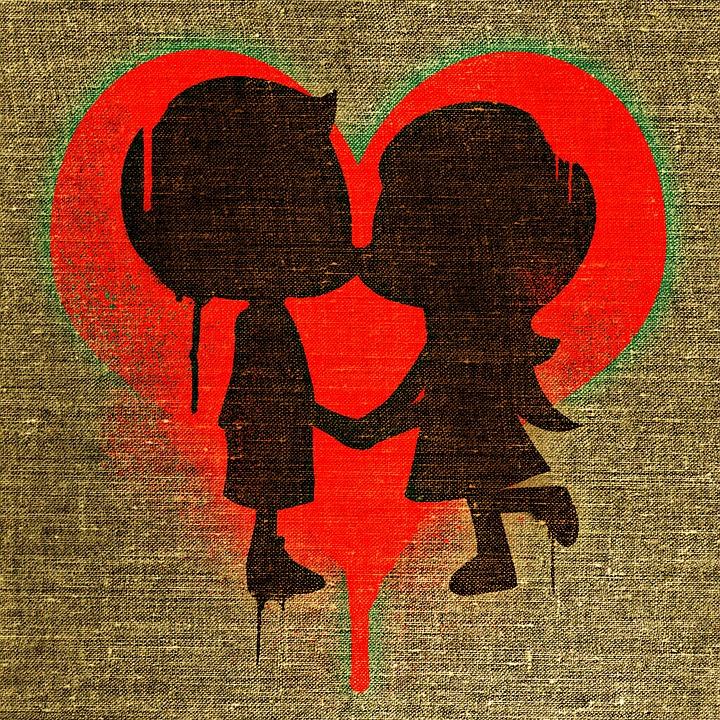 Liebe Valentinstag Verliebt Romantik Zusammen
