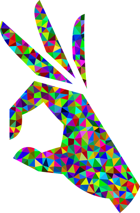 Ok Hand Sign Free Vector Graphic On Pixabay