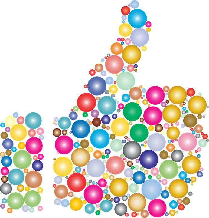 free vector graphic  colorful  thumbs up  hand  approve - free image on pixabay